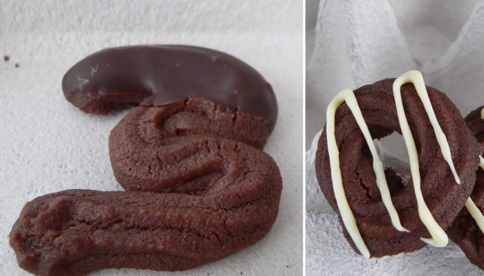 Sablés de xocolata. Muntatge 1