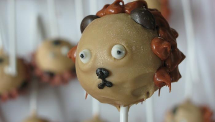 Cake pops lleó 1