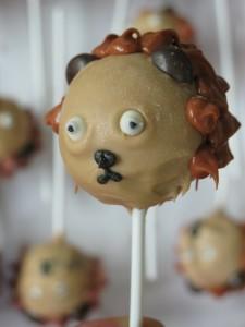 Cake pops lleó 3