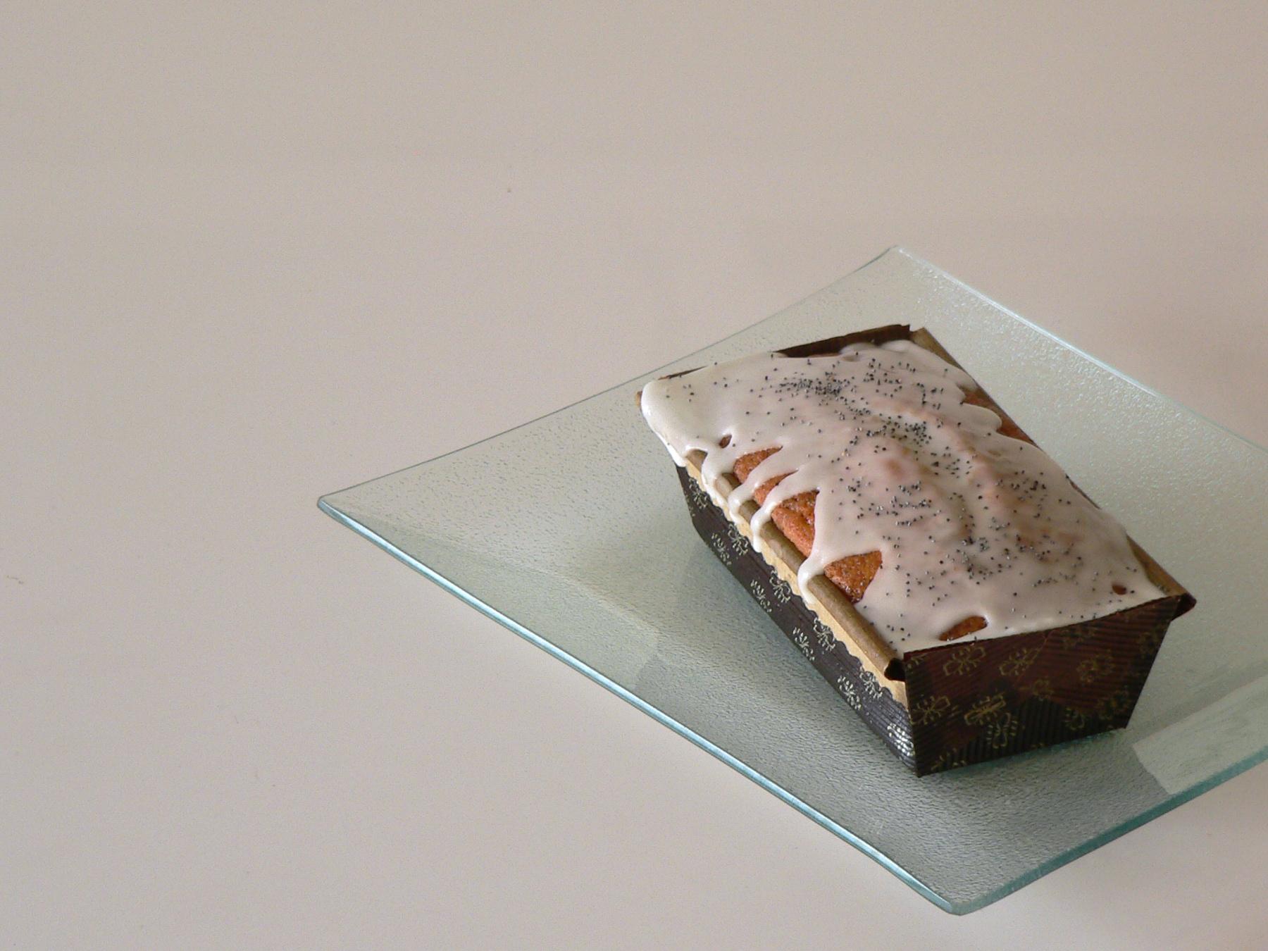 Cake de llimona i llavors de rosella 0