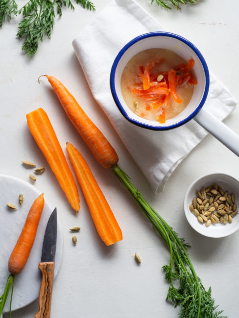 Zanahorias confitadas