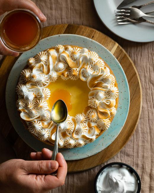 Pastís de formatge amb fruit de la passió