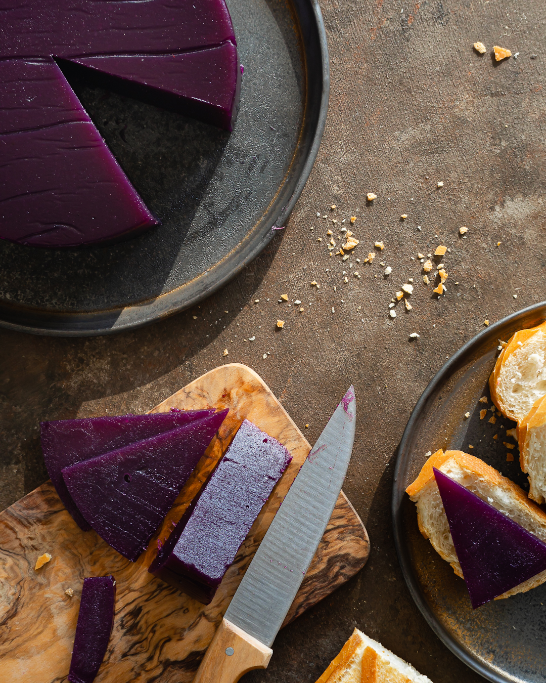 Purple sweet potato jelly